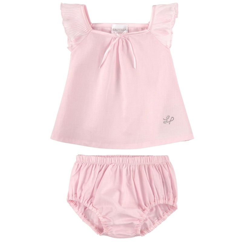 LA PERLA - Ensemble t-shirt et culotte rose