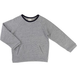 CARREMENT BEAU - Sweat bleu marine chiné