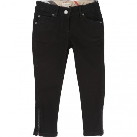 BURBERRY - Pantalon denim noir