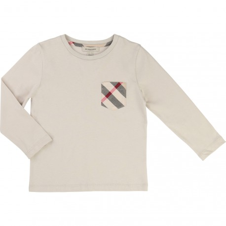 BURBERRY - T-shirt manches longues beige