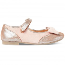 CARREMENT BEAU - Ballerines en cuir rose