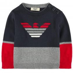 ARMANI JUNIOR - Pull tricolor