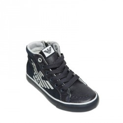 ARMANI JUNIOR - Baskets bleues