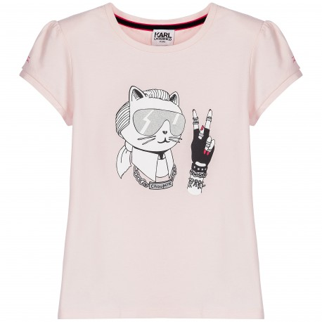 KARL LAGERFELD - T-shirt rose