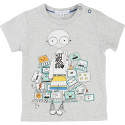LITTLE MARC JACOBS - T-shirt gris