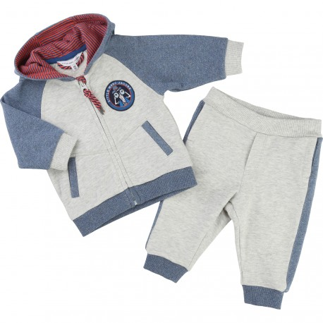 LITTLE MARC JACOBS - Ensemble jogging gris