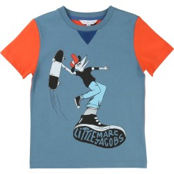 LITTLE MARC JACOBS - T-shirt bleu