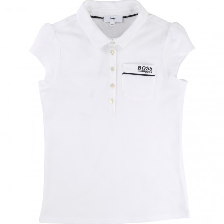 HUGO BOSS - Polo blanc