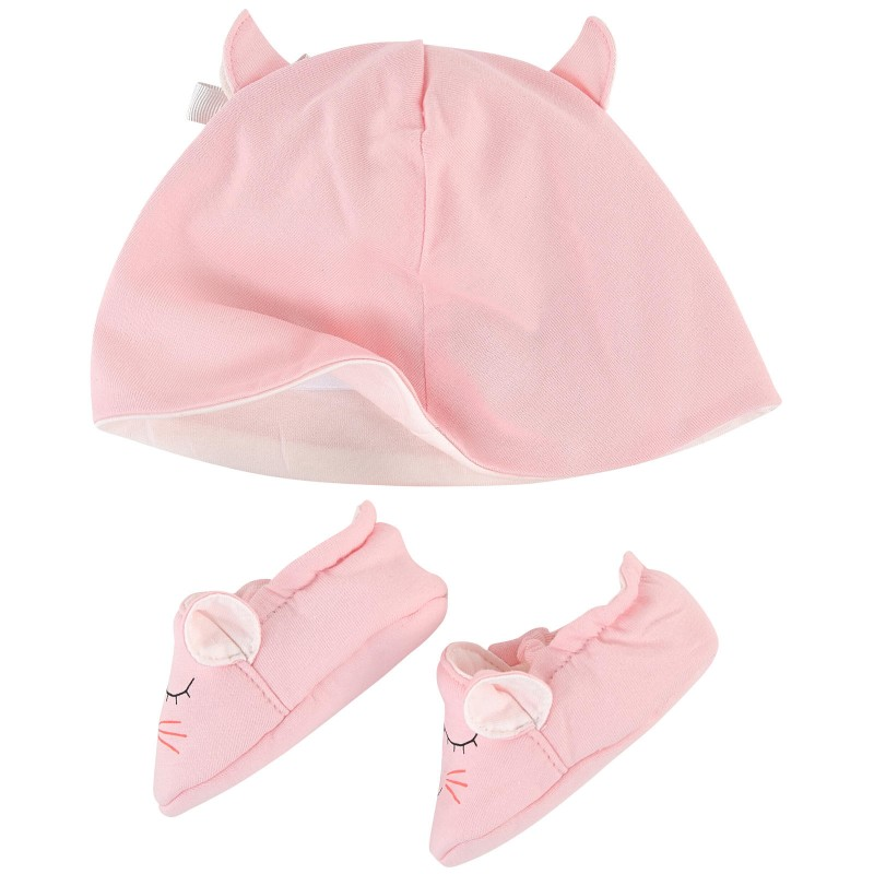 LITTLE MARC JACOBS - Ensemble bonnet et chaussons roses