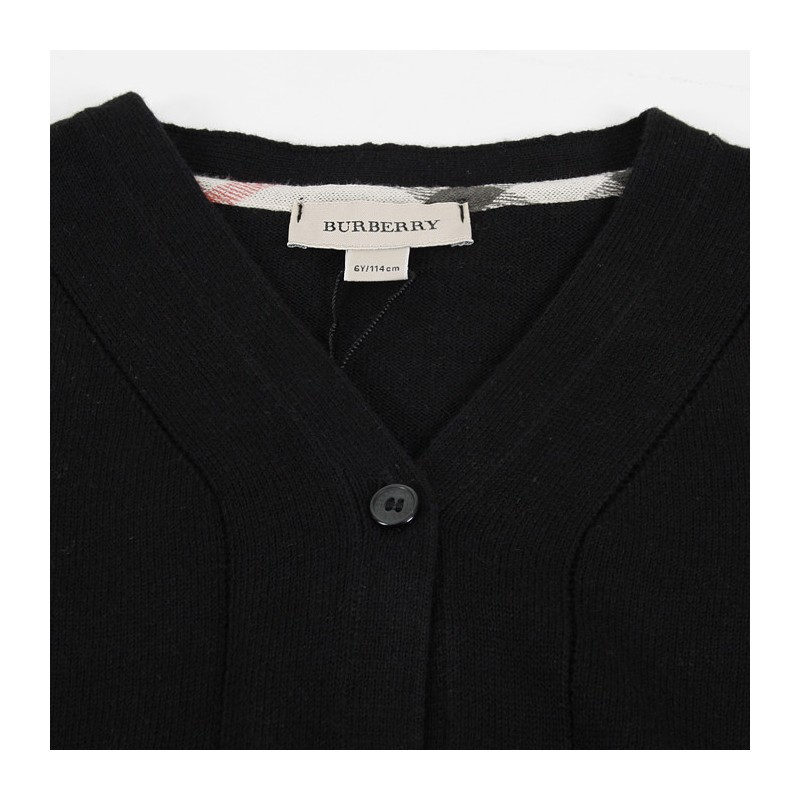 BURBERRY - Cardigan noir