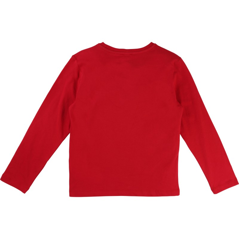 KARL LAGERFELD - T-shirt manches longues rouge