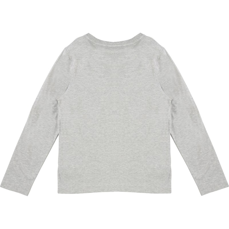 KARL LAGERFELD - T-shirt manches longues gris