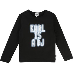 KARL LAGERFELD - T-shirt manches longues noir