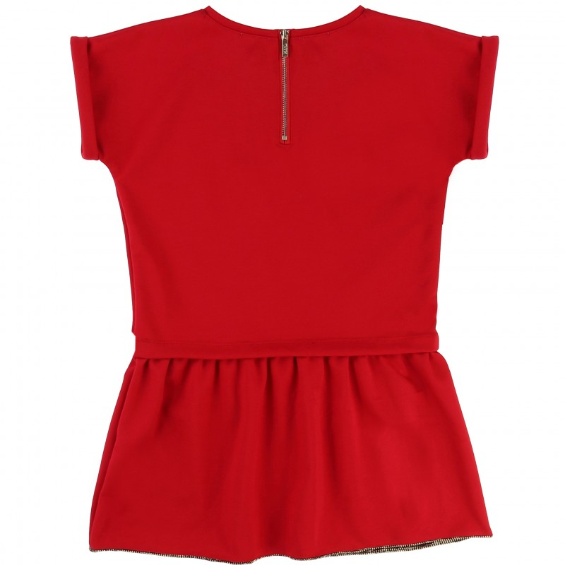 KARL LAGERFELD - Robe manches courtes rouge