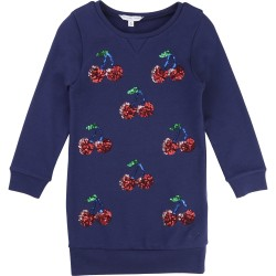 LITTLE MARC JACOBS - Robe manches longues bleue