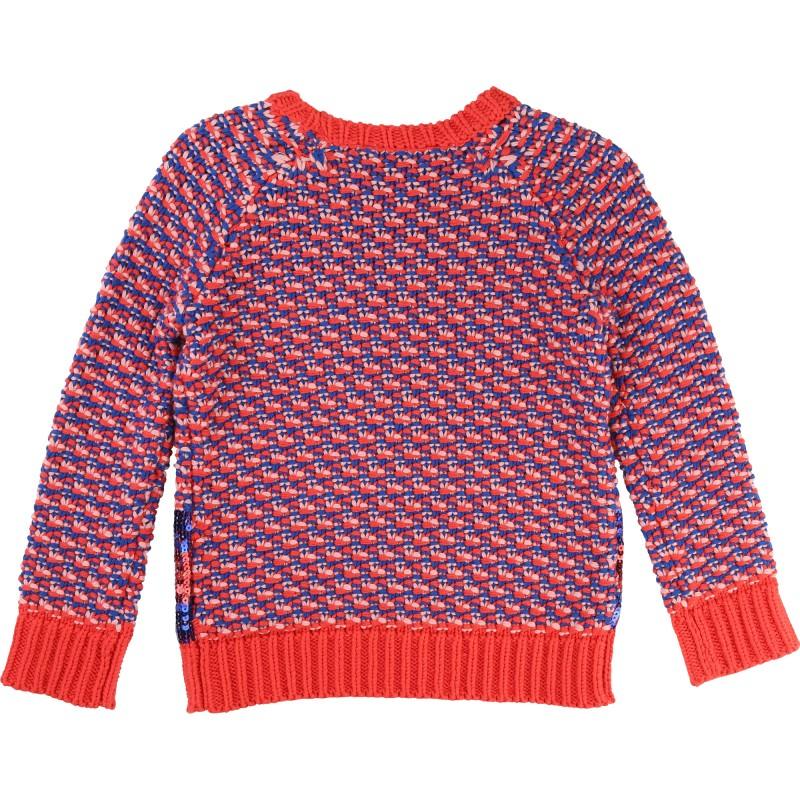 LITTLE MARC JACOBS - Pull rouge et bleu