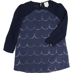 Robe manches longues bleue