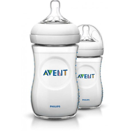 AVENT - Lot de 2 biberons Natural 260 ml
