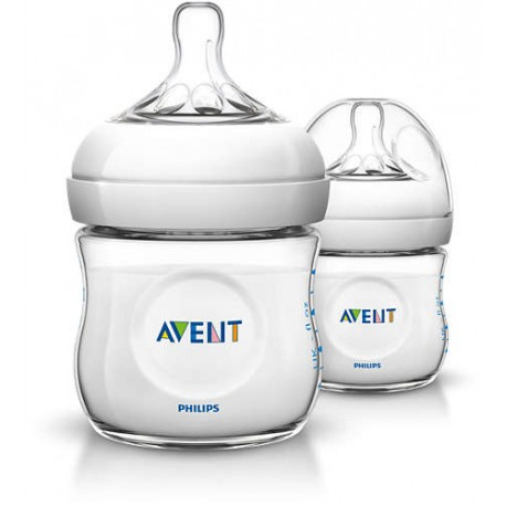 AVENT - Lot de 2 biberons Natural 125 ml