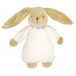 Peluche musicale lapin nid d'ange ivoire