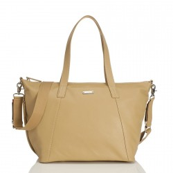 STORKSAK - Sac à langer Noa Leather beige