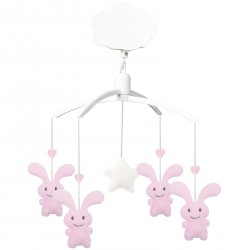 Mobile musical Funny bunny rose
