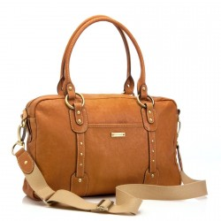 STORKSAK - Sac à langer Elizabeth Leather marron