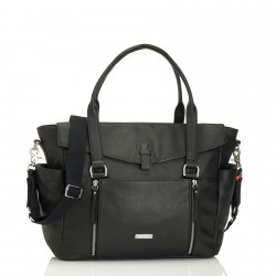 STORKSAK - Sac à langer Emma Leather noir