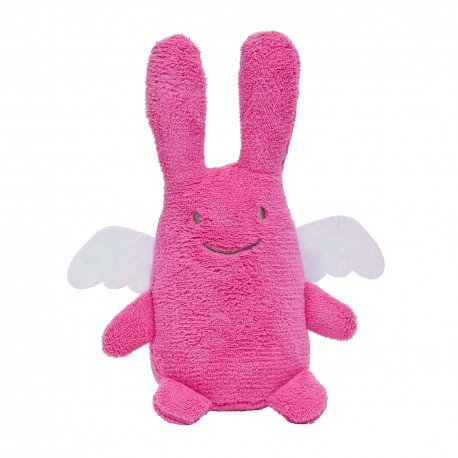 TROUSSELIER - Peluche musicale Ange lapin fuschia