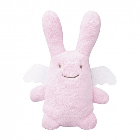 TROUSSELIER - Peluche musicale Ange lapin rose