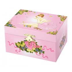 Coffret musical ballerine en tutu rose