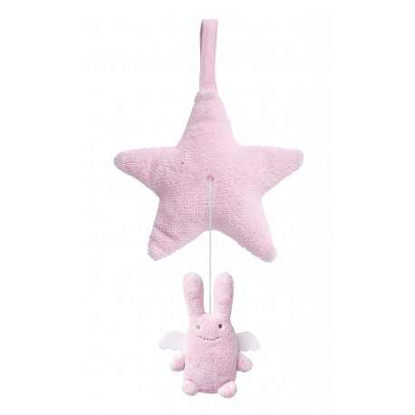 TROUSSELIER - Etoile Musicale Ange Lapin Rose