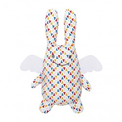 Peluche musicale Ange lapin multicolor