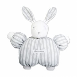 Peluche 1977 lapin Augustin gris