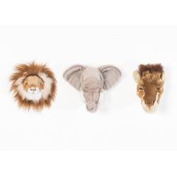 BIBIB - Lot de 3 mini tête safari