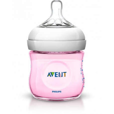 AVENT - Biberon Natural rose 125 ml