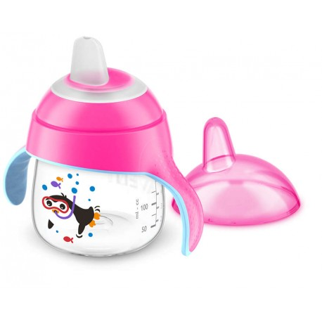 AVENT - Tasse à bec rose 200 ml