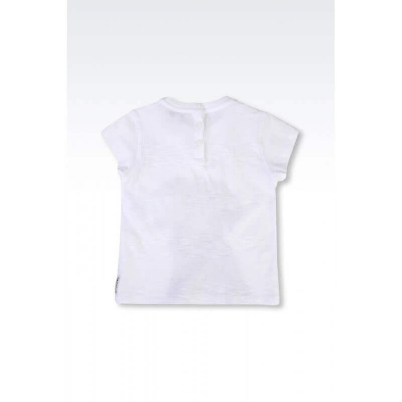 ARMANI JUNIOR - T-shirt chien blanc