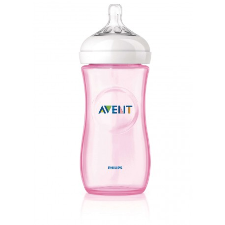 AVENT - Biberon Natural rose 330 ml
