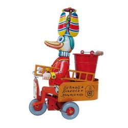 Bass & Bass - Jouet Canard Pompier Sur Tricycle